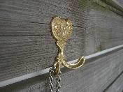 屋上ジャグジーの鎖のフック